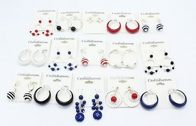 New Wholesale Lot 15 Pairs of Brand Name Earrings $188 Total Tag Price  #ER15