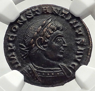 CONSTANTINE I the GREAT 310AD Authentic Ancient Roman Coin w SOL SUN NGC i72797