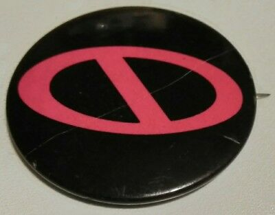 """Pink and black vintage """"No"""" button (First publishing inc™&©)"""