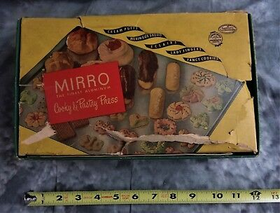 Vintage Collectible Mirro Cooky & Pastry Press #358Am In Original Box