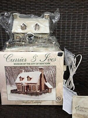 Currier & Ives Lighted Christmas Village Winter Evening Museum Of City New York