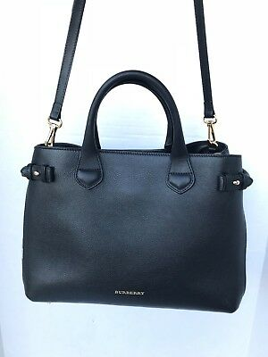 b20d5f3e832a BURBERRY BAG THE medium Banner in Leather and House Check - $799.00 ...
