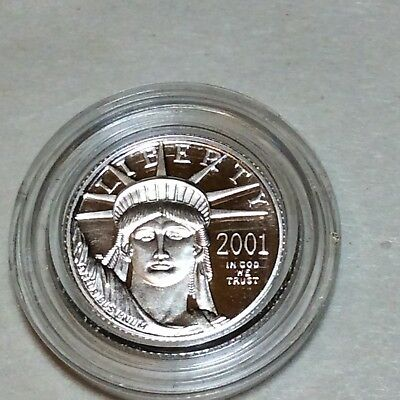 2001 Platinum 1/10 oz Eagle $10