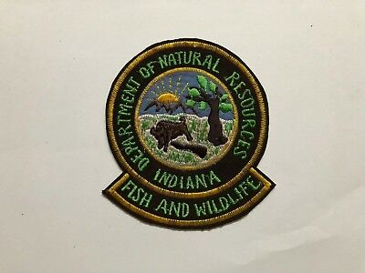 Indiana DNR Fish Wildlife patch game warden  , BEING SOLD AS IS