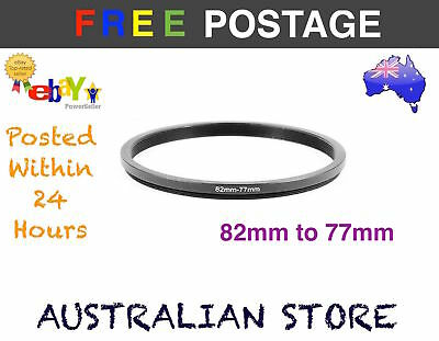 82-77mm 82mm-77mm 82 to 77 Metal Step Down Lens Filter Ring Stepping Macro AU