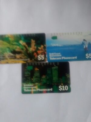Set X 3 Multi Hole Phonecards Queensland