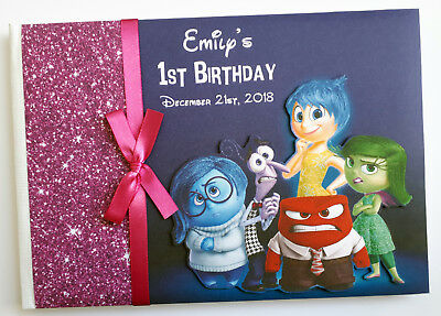 Personalised Disney Inside Out Birthday Guest Book - Any Design