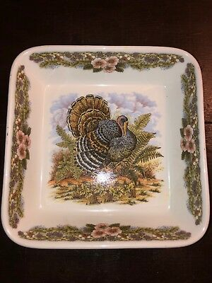 "Myott Factory Archive Thanksgiving Turkey 9"" Square Baking Dish"
