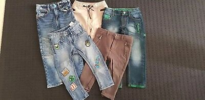 Boys Long Pants Mix Jeans Chinos Zara H&m M&s Size 3-4 Exclt Cond