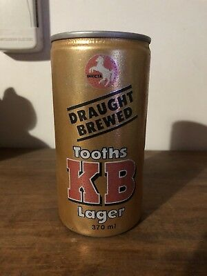 Collectable Tooth's KB Lager 370ml BEER CAN Ring Pull Brewed By Tooth & Co