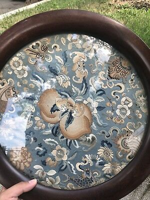 Marvelous Antique Chinese Silk Panel With Peking Knot