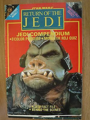 Vintage Star Wars Return of Jedi Poster Book & Quiz - 6 Colour Posters + 1 Other