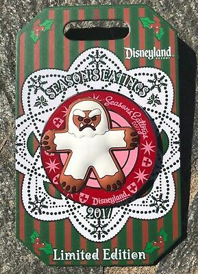 Disneyland Season's Eatings 2017 Gingerbread Man Yeti Pin - LE 3000