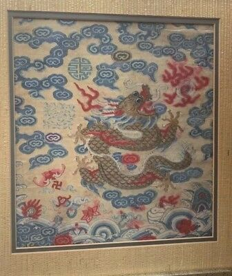 Very Rare Antique Chinese Kesi Silk Fragment Of Emperors Robe NO RESERVE !!