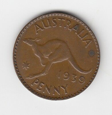 1939 Australia Kgvi Penny - Nice Collectable Vintage Coin