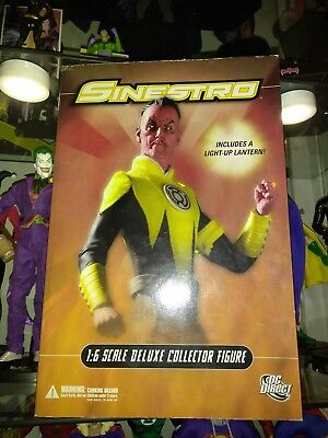 NEW DC Direct Collectibles 13 Inch Sinestro 1:6 Scale Deluxe Collector Figure