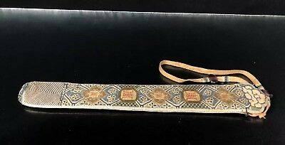 Very Fine Antique Chinese Silk Qing Period Fan Case NO RESERVE !! $9.99