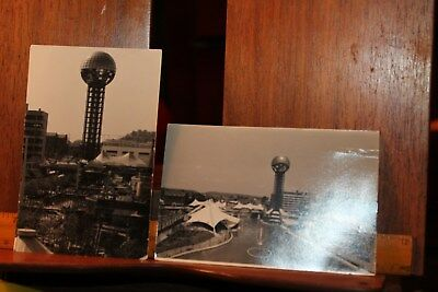Vintage 1982 Worlds Fair Pair of Postcards Knoxville TN Sunsphere