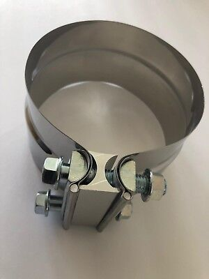 "5"" Preformed Stainless Steel Exhaust Band Clamps ID/OD"
