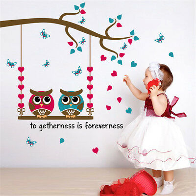 Two Owls Home Room Decor Removable Wall Stickers Decal Decoration