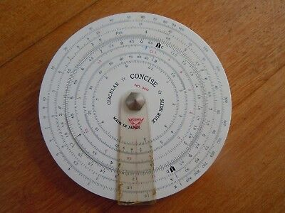 Concise Circular Slide Rule No 300