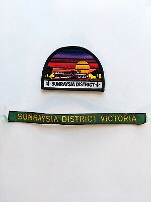 Sunraysia District Scout Badge with rare misprint name tape