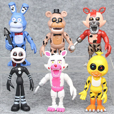6PCS Cute Five Nights at Freddy's FNAF Game Action Figures Kid Toy Doll Set Gift