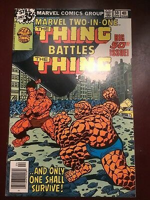 Marvel Two-in-One #50 Thing vs Thing, Fantastic Four