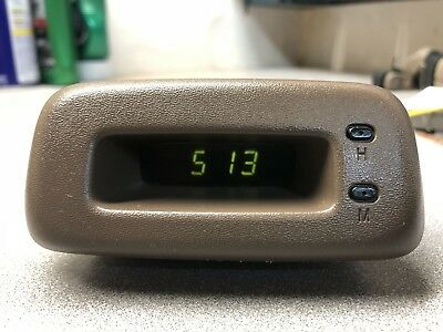 Toyota TERCEL / PASEO Digital Dash Clock OEM 1996-1999 TAN/OAK