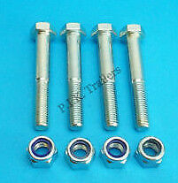 4 x Leaf Spring Eye Bush Bolts M12 x 80mm for Ifor Williams Trailer