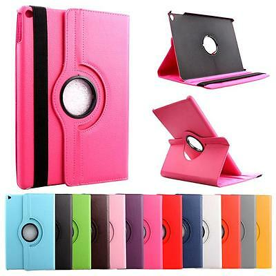 iPad Case Cover Leather Shockproof 360 Rotating Stand