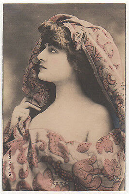 French Stage Actress Mlle Corciade Original Antique Photo Postcard