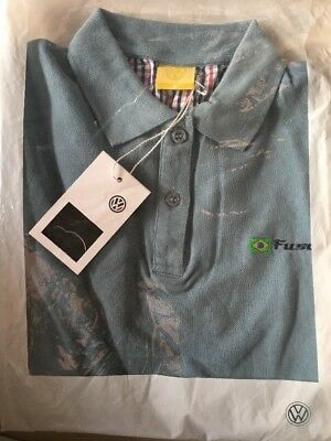 VW Beetle Brasil Damen Polo Shirt  Gr.S  Blaugrau In Ovp