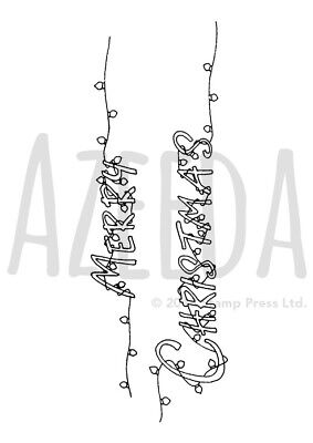 A7 'Merry Christmas Lights' Unmounted Rubber Stamp (SP00002129)