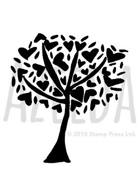 A7 'Heart Tree' Unmounted Rubber Stamp (SP00009920)