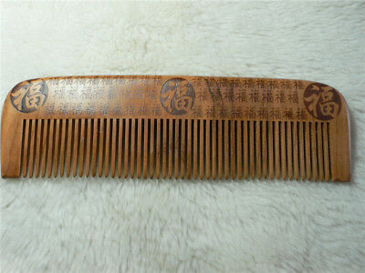 Top A-Grade-100% Natural Luck  Peach wood Massage Hair Care Comb Gift Au