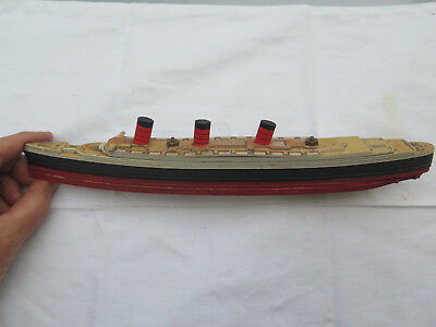 RMS QUEEN MARY CHAD VALLEY TAKE TO PIECES MODEL SHOWING ALL 12 DECKS c1950 RARE