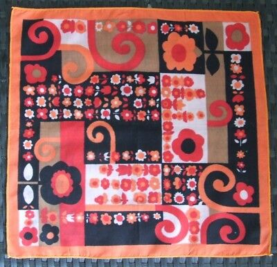 Vibrant Vintage Retro Cotton Handkerchief