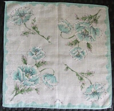 Pretty Vintage Cotton Floral Handkerchief