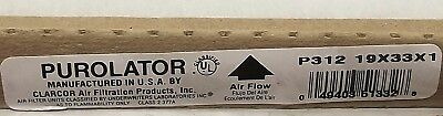 Lot of 12 Purolator P312 19x33x1 Clarcor Air Filters STAINED ONE EDGE  33x19x1