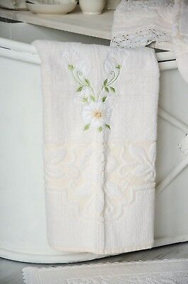 Duschtuch Badetuch Handtuch Frotteé 70 x 140 Towel Bad Shabby Landhaus Vintage