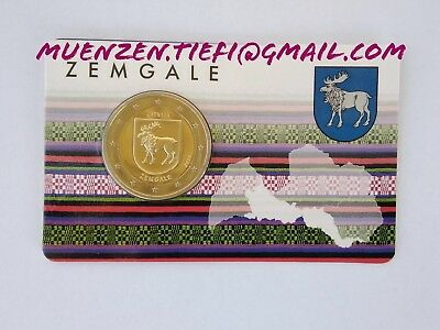 2 Euro Coincard Lettland Zemgale 2018 Sofort lieferbar
