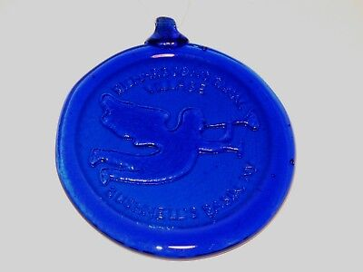 Richardson's Canal Village Bushnell's Basin Ny Cobalt Blue Glass Angel Ornament