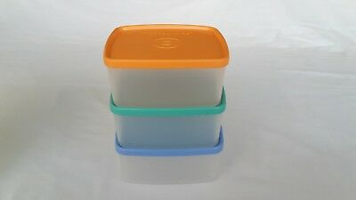 Tupperware 3 Small Square Rounds