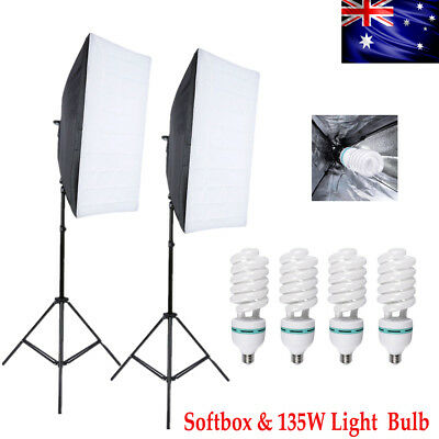 135W Bulb & Photography Studio Softbox Continuous Lighting Soft Box Light Stand