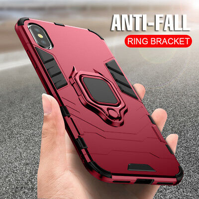Luxury Armor Ring Case For Apple iPhone XS MAX XR XS X Shockproof Magnetic Cover