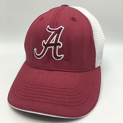 1dd1395787877 University of Alabama Roll Tide Snap Back Trucker Hat Cap Crimson White Mesh
