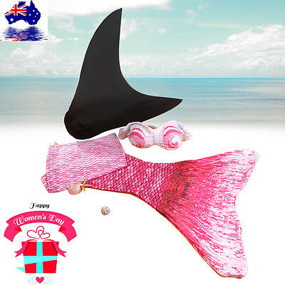 New Summer Colorful Mermaid Tail For Kids With Monofin For Swimming With Bra  VC