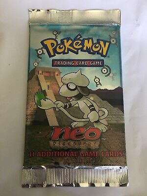 1x Neo discovery booster pack sealed / Pokemon not 1st edition