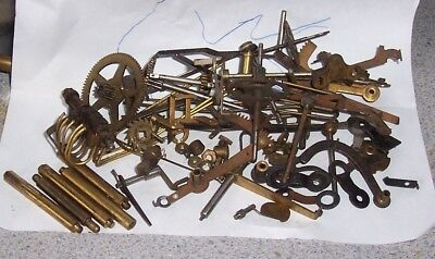 CLOCK PARTS, clock movements, clock gears and levers
